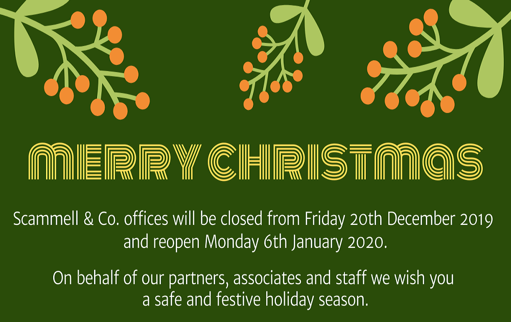 Office closures over the festive season